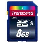 8GB SDHC, Transcend Premium, Class 10, скорост на четене 30MB/s, скорост на запис 10MB/s image