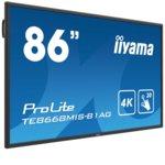 "Публичен дисплей Iiyama Prolite ТЕ8668MIS-B1AG, 85.6""(217.4cm) IPS панел, UHD, 8ms, 1 200:1, 375 cd/m2, HDMI, VGA image"