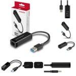 Мрежови адаптер AXAGON ADE-SR, от USB-A(м) към Gigabit Ethernet RJ-45, черен image