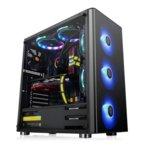 Кутия Thermaltake V200 TG RGB Edition, ATX/mATX/miniITX, 1x USB 3.0, страничен прозорец от закалено стъкло, черна, без захранване, RGB програмируема подсветка  image