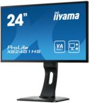 """Монитор IIYAMA Prolite XB2481HS-B1, 23.6"""" (59.94 cm) VA панел, Full HD, 6ms, 12000000:1, 250 cd/m2, HDMI, DVI, VGA image"""