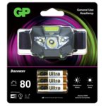 Челник GP Batteries CH32, алкални батерии, 80lm, водоустойчив черен image