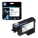 Касета ЗА HP DesignJet Z2600, Z5600 - Black/Cyan - 744 - P№ F9J86A image