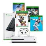 Конзола Xbox One S + Forza Horizon 4 + Fifa 19 + Rare Replay + Gears Of War 4 + стойка, 1TB, бяла image