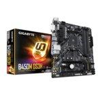 Дънна платка Gigabyte B450M DS3H, B450, АМ4, DDR4, PCI-E, (DVI-D&HDMI), CrossFire, 4x SATA 6Gb/s, 1x M.2 socket, 4x USB 3.1 Gen1, Micro ATX image