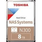 Toshiba 8TB 256MB N300 NAS HDWG180UZSVA