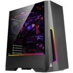 Кутия Antec DP501 RGB, ATX/Micro-ATX/ITX, 2x USB 3.0, страничен прозорец от закалено стъкло, черна, без захранване image