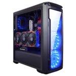 Кутия Xigmatek Hawthorn Black, ATX / Mini ITX / Micro ATX, 1x USB 3.0 / 2x USB 2.0, 4x вентилаторa 120mm (Сини LED), черенa, без захранване image