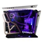 Кутия Raidmax X08, ATX, 2x USB 3.0, 2x странични прозореца от закалено стъкло, прозрачен дизайн, черна, без захранване image