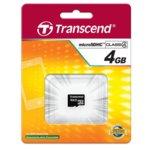 4GB microSDHC, Transcend, Class 4, скорост на четене 4MB/s, скорост на запис 4MB/s image