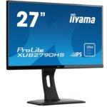 """Монитор Iiyama Prolite XUB2790HS-B1, 27""""(68.58 cm) IPS панел, Full HD, 5ms, 5 000 000:1, 250 cd/m2, HDMI, DVI, VGA image"""