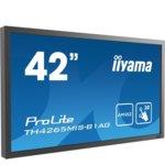 "Публичен дисплей Iiyama Prolite TH4265MIS-B1AG, 42""(106.68 cm)AMVA3 панел, Full HD, 6.5ms, 3 000:1, 400 cd/m2, HDMI, VGA image"
