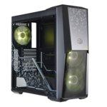 Кутия Cooler Master MasterBox MB500 RGB TUF Edition, ATX/mATX/Mini-ITX, 2x USB 3.0, прозрачни панели, 3x 120мм вентилатора с RGB подсветка, черна, без захранване image