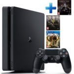 Конзола Sony PlayStation 4 Slim в комплект с 3 игри (Middle-earth: Shadow of War + The Order: 1886 + Far Cry Primal), 500GB, черен image