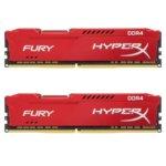 16GB(2x8GB) 2666Mhz, UDIMM, Kingston HyperX Fury Red HX426C16FR2K2/16, 1.2V image
