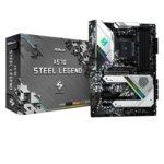 Дънна платка ASRock X570 Steel Legend, X570, AM4, DDR4, PCI-Е 4.0 (HDMI&DP)(CFX), 8x SATA 6Gb/s, 1x Hyper M.2, 1x USB 3.2 (Gen2, Type-C), ATX image