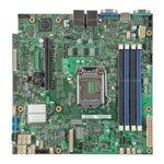 Дънна платка за сървър Intel DBS1200V3RPM LGA1150 (до 95W), поддържа ECC DDR3,  1x PCI-E 3.0 x8, 2x LAN1000, Software RAID RST (0,1,10,5) & ESRT2 (0,1,10), uATX image