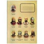 Тетрадка Български царе, формат A4, офсетова хартия широки редове, 60 листа image
