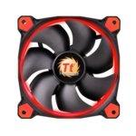 Вентилатор 140mm, Thermaltake Riing 14 RGB, 3-pin, 1500 rpm. червен image
