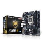 Дънна платка Gigabyte GA-H110M-H (rev 1.0), H110, LGA1151, DDR4, PCI-E (HDMI&VGA), 4x SATA 6Gb/s, 2x USB 3.0, microATX image