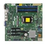 Дънна платка за сървър SuperMicro X11SSL-F, LGA 1151, поддържа ECC UDIMM/DDR4 SDRAM, 2x Lan1000, 6x SATA3 RAID (0,1,5,10), USB3.0, micro ATX, Bulk Pack image