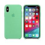 Калъф за iPhone XS, Apple Silicone Case - Spearmint, силикон, зелен image