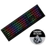 Клавиатура Ducky Shine 7 Gunmetal Gray RGB, гейминг, механична (Cherry MX Silver), черна, USB image