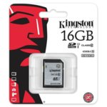 16GB SDXC, Kingston, Class 10 UHS-I, скорост на четене 45MB/s, скорост на запис 10MB/s image
