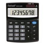 Калкулатор Rebell SDC408 Office line, 8 разряден дисплей, черен image