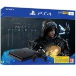 Конзола Sony PlayStation Slim 1TB в комплект с игра Death Stranding, черна image