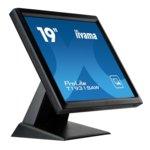 """Монитор Iiyama PROLITE T1931SAW-B5, 19"""" (48.26 cm) TN сензорен панел, SXGA, 5ms, 1000:1, 250 cd/m2, Display Port, HDMI, VGA, IP54 защита image"""