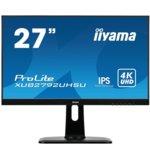 "Монитор Iiyama ProLite XUB2792UHSU-B1, 27"" (68.6 cm) IPS панел, Ultra HD, 4ms, 80000000:1, 300 cd/m2, DisplayPort, HDMI image"