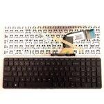 Клавиатура за лаптоп HP, съвместима със серия Pavilion 15-P 17-F, черна. няма рамка, US и кирилица image
