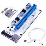 Контролер/екстендер OEM VER-008 от PCI-E x1 към PCI-E x16 чрез USB 3.0, MOLEX/SATA, 6-Pin PCI-E image