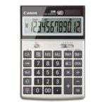 Калкулатор Canon HS-1200TCG, подвижен LCD дисплей, 12 цифрен, сив image