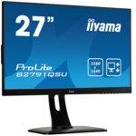 """Монитор Iiyama Prolite B2791QSU-B1, 27""""(68.5 cm) TN панел, WQHD, 1ms, 80 000000 : 1, 350 cd/m2, HDMI, DisplayPort, DVI image"""