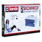 """Комуникационен шкаф Lande LN-SH09U5450-LG-F3-X, 19"""", 9U, 540x500mm, перфорирана врата, светло сив image"""