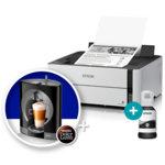 Мастиленоструен принтер Epson EcoTank M1140 в комплект с ръчна еспресо машина Krups Nescafe Dolce Gusto OBLO, монохромен, 2400 x 1200 dpi, 20 стр/мин,  image