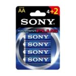 Батерии алкални Sony Stamina Plus AM3-B4X2D, AA, 1.5V, 4+2 бр. image