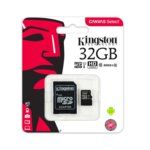 32GB microSDHC с адаптер, Kingston Canvas Select, Class 10, скорост на четене 80MB/s, скорост на запис 10MB/s image