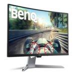 """Монитор BenQ EX3203R, 31.5"""" (80.01 cm) VA LED панел, 2560x1440, 4ms, 20 000 000:1, 400cd/m2, HDMI, DisplayPort, Type-C, Извит, сив image"""