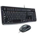 Комплект LOGITECH MK120 DESKTOP BLCK US, USB, черни image