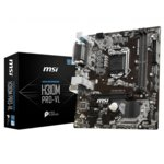 Дънна платка MSI H310M PRO-VL, H310, LGA1151, DDR4, PCI-Е (VGA), 4x SATA 6Gb/s, 4x USB 2.0, m-ATX image