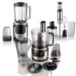 Комплект Gorenje Chef's Collection, кухненски робот/пасатор/блендер, 800W, различни приставки, сребристи image