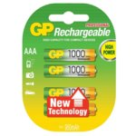 Акумулаторна батерия GP Batteries R03, AAA, 1000mAh, 1.2V, NiMH, 3+1бр. image
