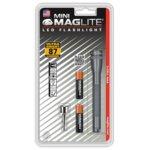 Фенер Mini MAGLITE LED, 2x батерии ААА, 87lm, водоустойчивост, блистер, сив image