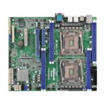 Дънна платка за сървър ASRock Rack EP2C612D8C, 2x LGA2011-3, поддържа DDR4 LRDIMM/RDIMM, 2x LAN1000, 1x IPMI LAN port, 10x SATA3 6.0Gb/s(RAID 0/1/5/10), 2x USB 3.0, ATX image