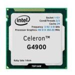 Процесор Intel Celeron G4900, двуядрен (3.10 GHz, 2MB Cache, 350 MHz-1.05 GHz, LGA1151) Tray, без охлаждане image