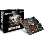 Дънна платка ASRock H110M-DVS R3.0, H110, 1151, DDR4, PCI-E(DVI-D,D-Sub), 4x SATA 6Gb/s, 4x USB 3.1 Gen1, mATX image