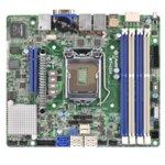Дънна платка за сървър ASRock Rack MT-C224, LGA1150, DDR3 ECC UDIMM, 3x LAN1000, 4x SATA 6Gb/s, 2x SATA 3Gb/s, RAID 0, 1, 5, 10, 2x USB 3.0, mini ITX image